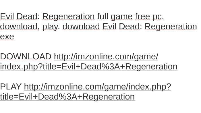evil dead game free download