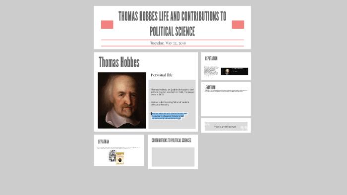 thomas hobbes contributions