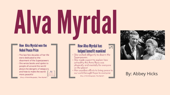 Alva Myrdal By Abbey Hicks