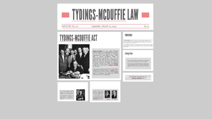 tydings mcduffie law