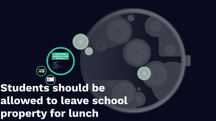 students should be allowed to leave school for lunch