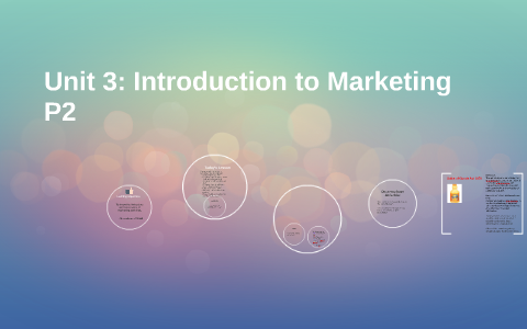 introduction to marketing unit 3