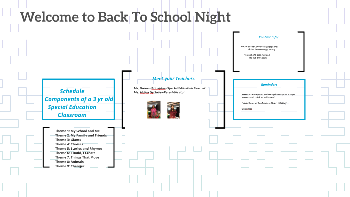 7 Things Special Education Teachers >> Welcome To Back To School Night By Doreen Brillantes On Prezi