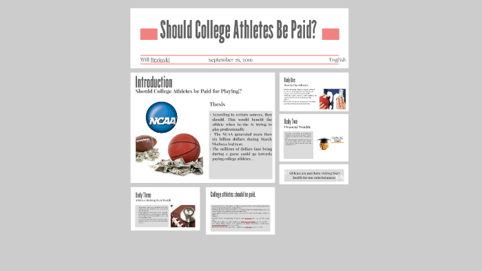 should college athletes be paid thesis