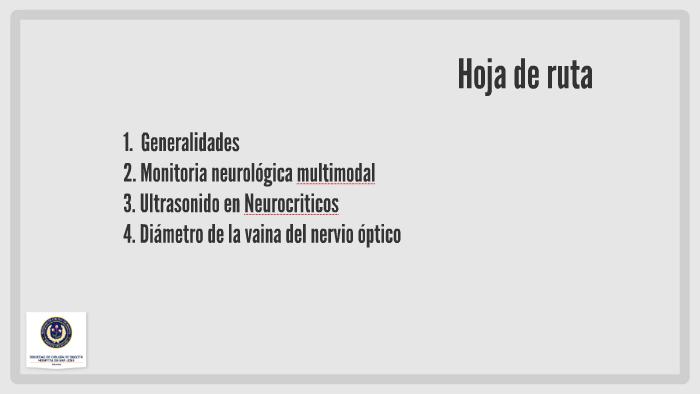 Ultrasonido del nervio óptico presión intracraneal elevada