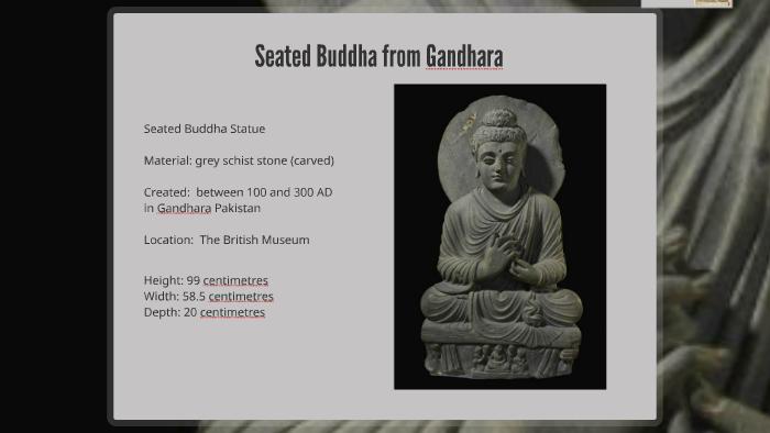 Seated Buddha From Gandhara By Jill Kraus