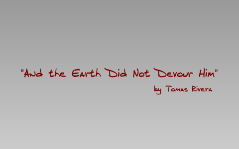 and the earth did not devour him