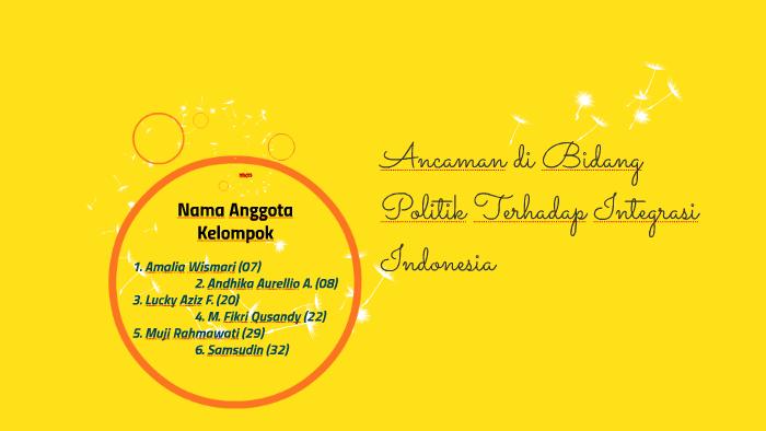 Ancaman Di Bidang Politik Terhadap Integrasi Indonesia By Romi An On