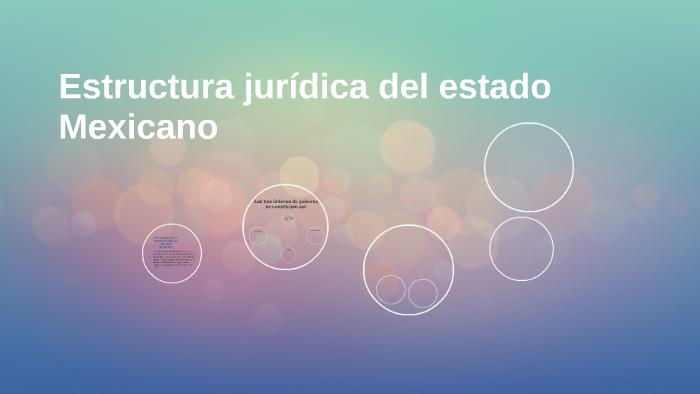Estructura Juridica Del Estado Mexicano By Javier Aguado On