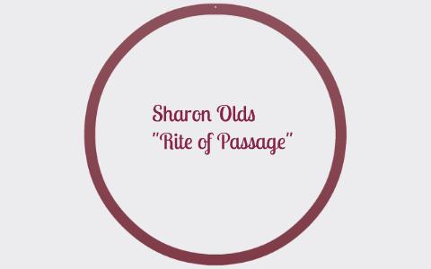 rite of passage sharon olds