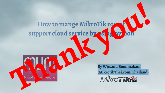 How to mange MikroTik router support cloud service by using