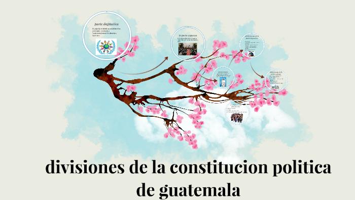 Divisiones De La Constitucion Politica De Guatemala By
