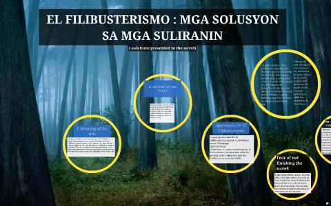 EL FILIBUSTERISMO : MGA SOLUSYON SA MGA SULIRANIN by Ken