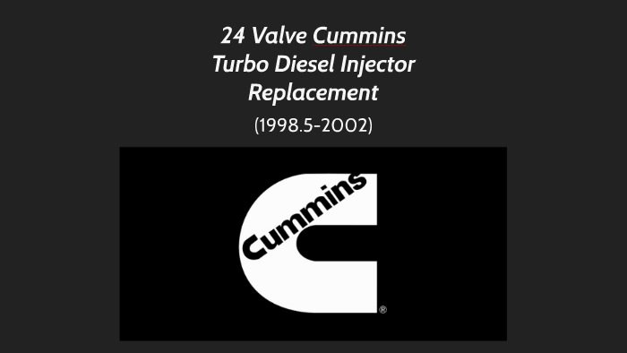 24 Valve Cummins Turbo Diesel Injector Replacement by