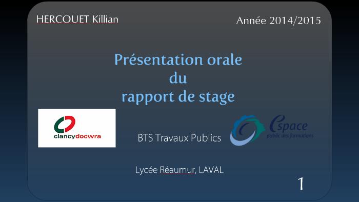 Soutenance De Stage Bts Tp 2014 2015 By Killian Hercouet On