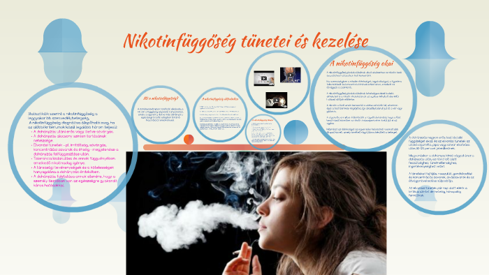 a nikotinfüggőség kezelésének menete)