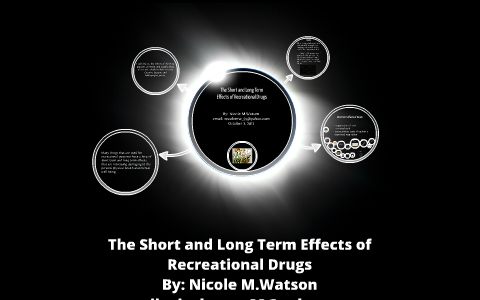 The Short and Long Term Effects of Recreational Drugs by Nicole