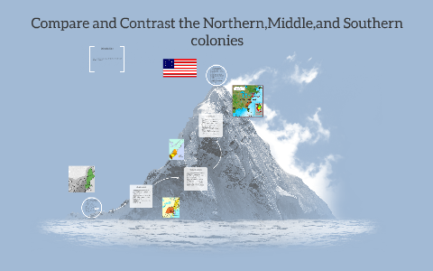 compare the northern and southern colonies