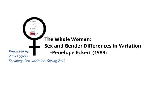 gender differences in sociolinguistics