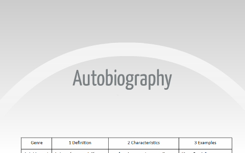 AUTOBIOGRAPHY AND BIOGRAPHY COMPARISON by Alejandro Char on Prezi