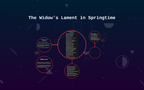 the widows lament in springtime