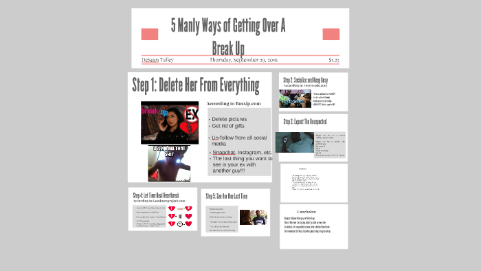 5 Manly Ways of Getting Over A Break Up by Marlon Talley on Prezi