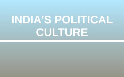 political culture in india