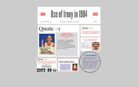 examples of irony in 1984