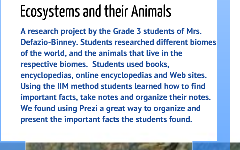 Grade 3 Ecosystem Research Project by Margaret Keohane on Prezi