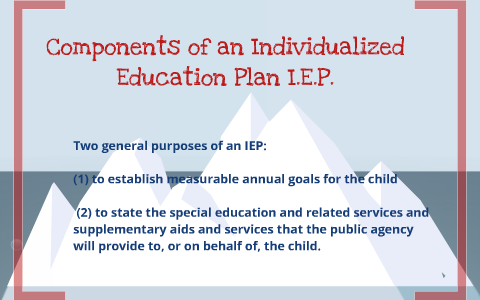 The Three Essential Parts Of Iep Goal >> 8 Main Components Of An Iep By Sarah Triebold On Prezi