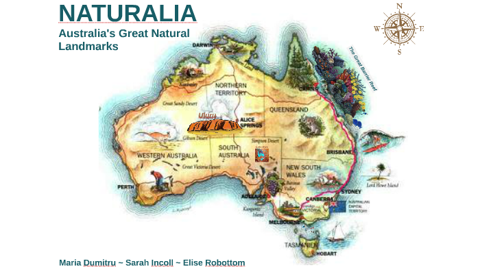 Map Of Australia Landmarks.Dragons And Football