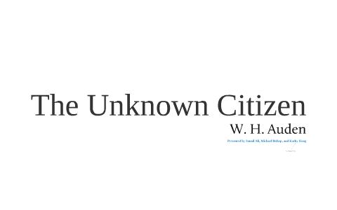 unknown citizen