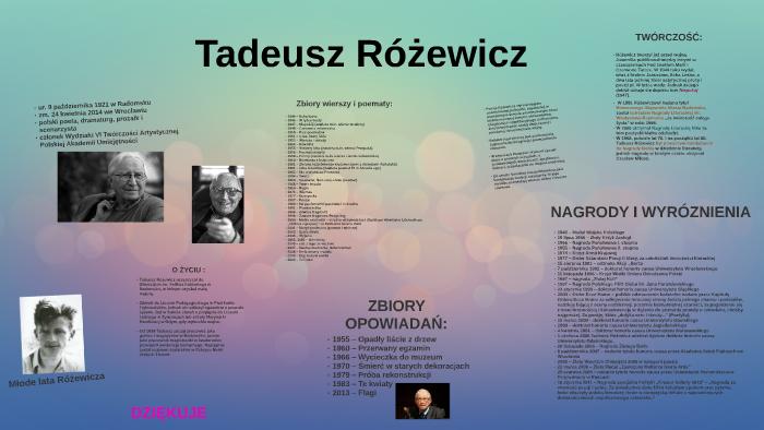 Tadeusz Różewicz By Ola Opałka On Prezi