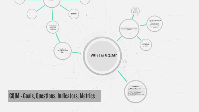 GQIM - Goals, Questions, Indicators, Metrics by Miguel Mejia on Prezi