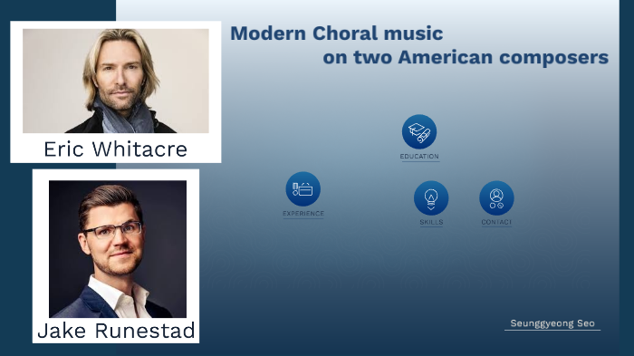 Comparision two modern American choral composers by