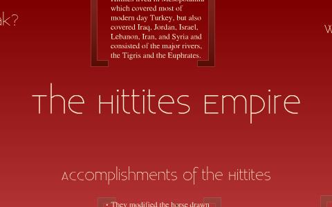 hittites accomplishments