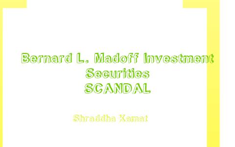 bernie madoff investment scandal