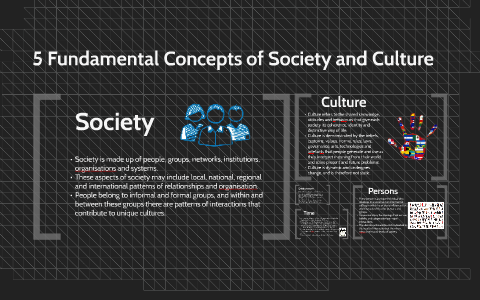 society and culture concepts
