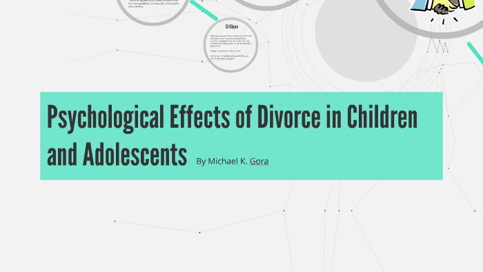 Psychological Effects of Divorce in Children and Adolescents