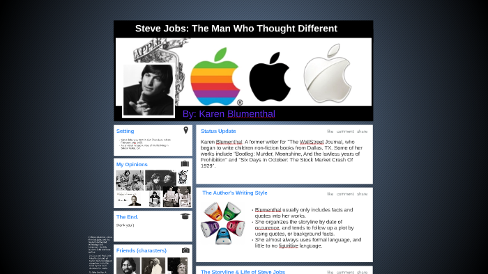 Steve Jobs The Man Who Thought Different By Naadirah Knotts On Prezi