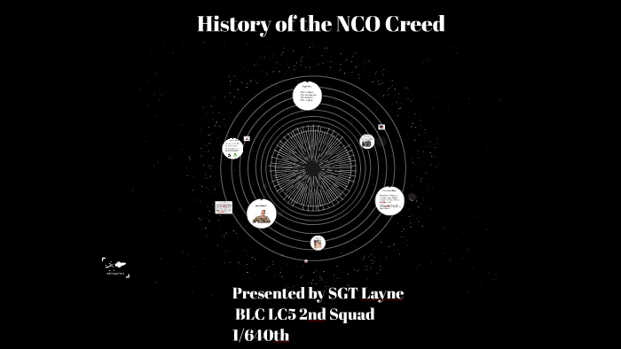 the nco creed army