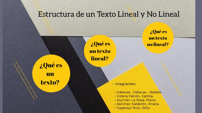 Estructura De Un Texto Lineal Y No Lineal By Othy Yupanqui