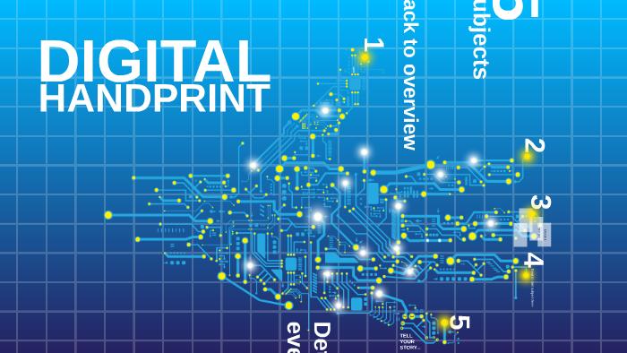 Template Digital Handprint By Prezi Templates Prezi