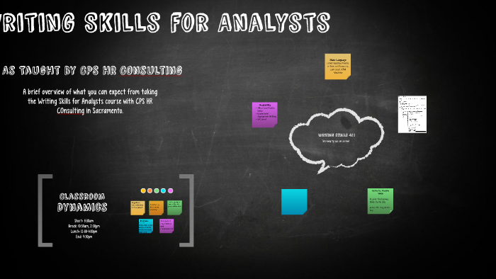 Writing Skills for Analysts by Sarah Price on Prezi