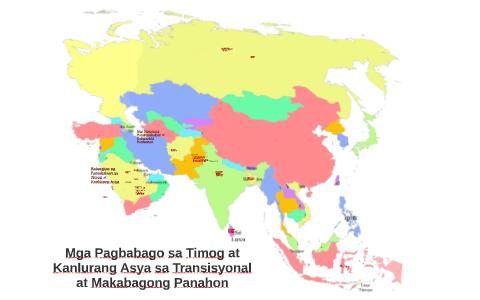 Mga Pagbabago sa Timog at Kalurang Asya sa Transisyonal at M