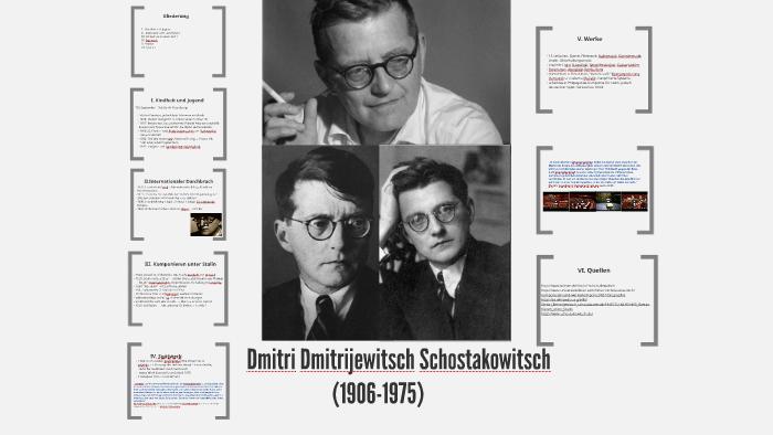 Dmitri Dmitrijewitsch Schostakowitsch by Hanna Röder on Prezi