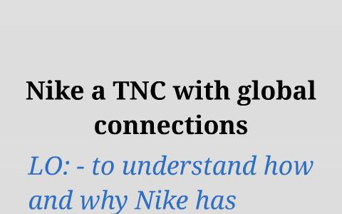 nike tnc case study gcse geography