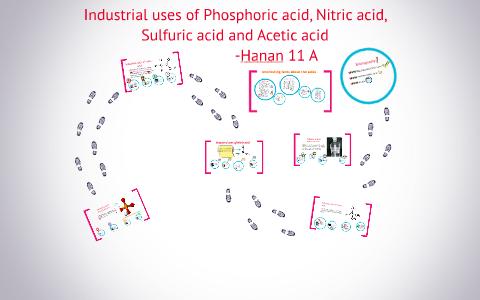 Industrial uses of Phosphoric acid, Nitric acid, Sulfuric ac