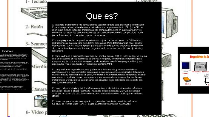 Procesamiento De Informacion En La Computadora By Valentina Diaz