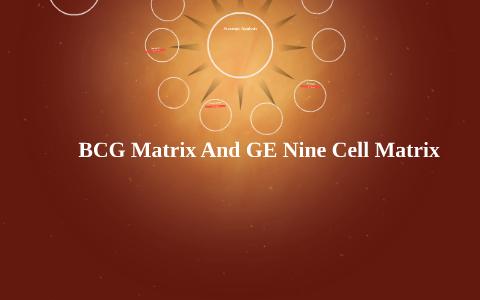 ge 9 cell matrix ppt